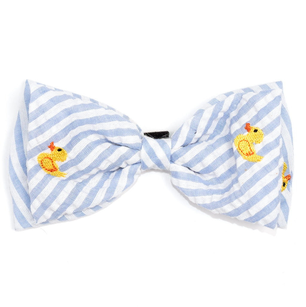 THE WORTHY DOG | Rubber Duck Bow Tie in Light Blue