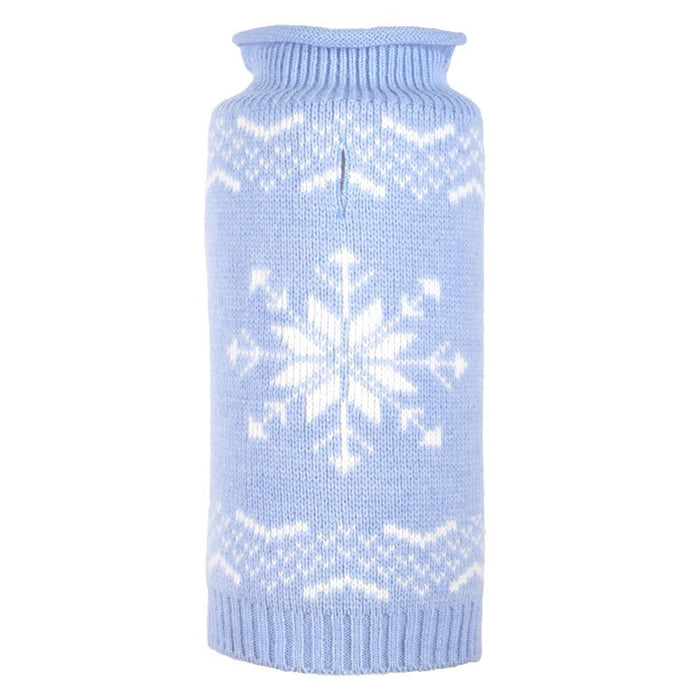 WORTHY DOG | Snowflake Sweater in Icy Blue