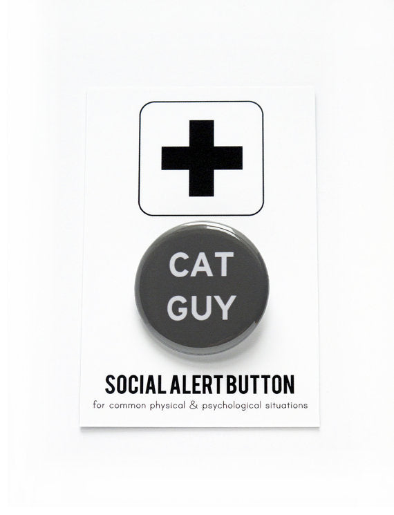 WORD FOR WORD | Cat Guy Button