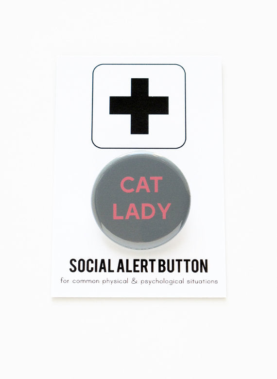 WORD FOR WORD | Cat Lady Button