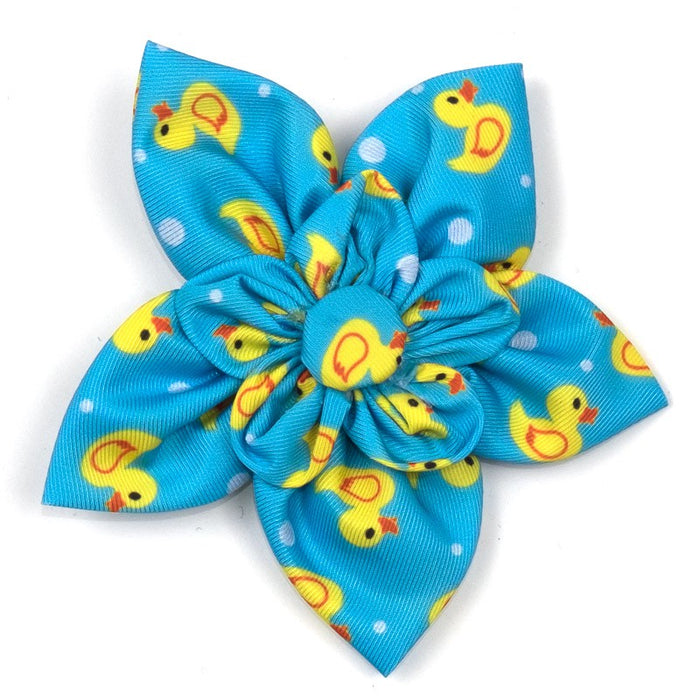 THE WORTHY DOG | Rubber Duck Flower in Light Blue