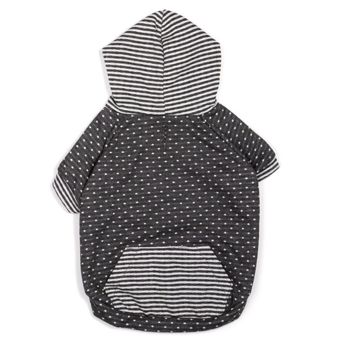 WORTHY DOG | Grey Dot / Stripe Hoodie