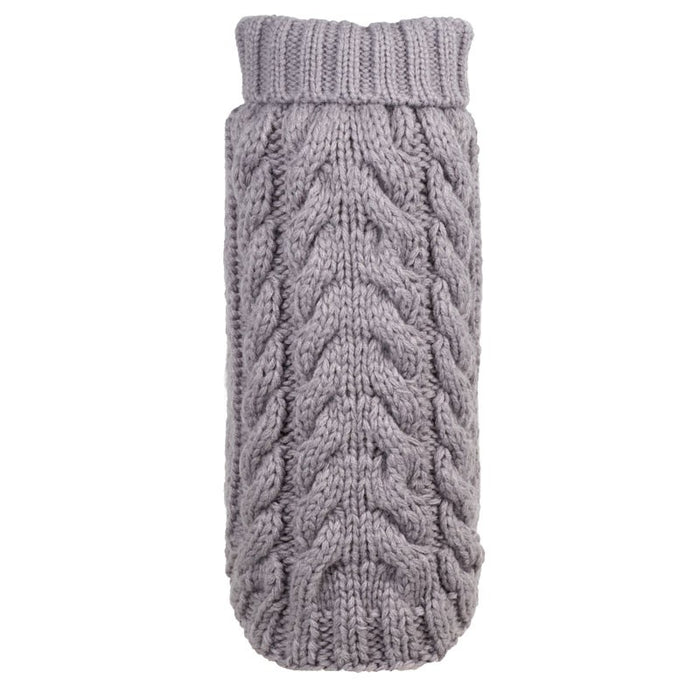 WORTHY DOG | Hand Knit Turtleneck in Grey