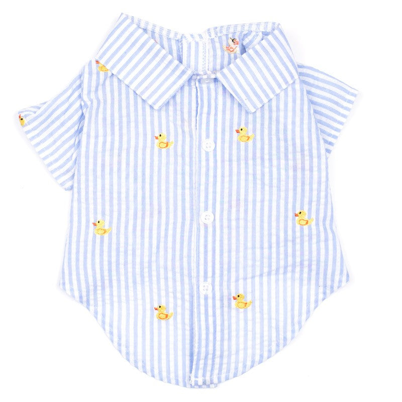 THE WORTHY DOG | Rubber Duck Shirt in Light Blue Stripe