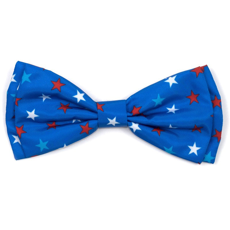 THE WORTHY DOG | Patriotic Stars Bow Tie