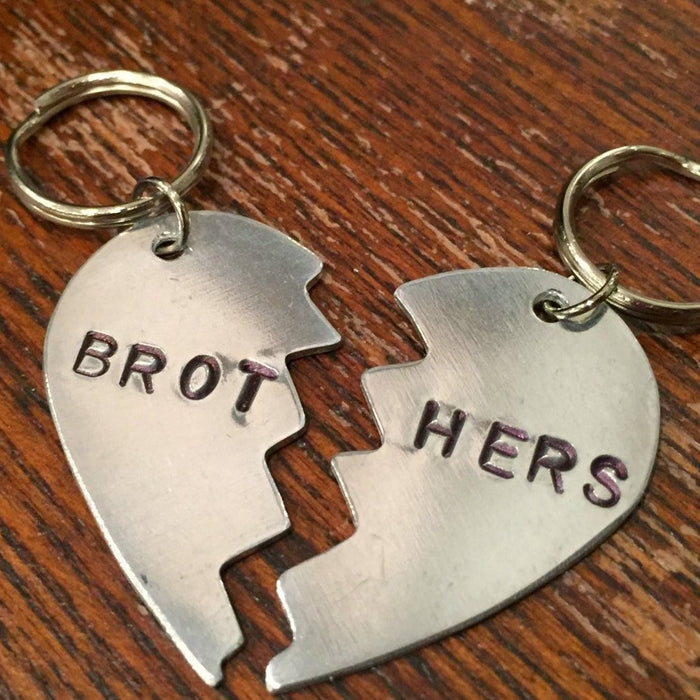 WOWIE GOODS | Aluminum Brothers Heart Tag Set (Large)