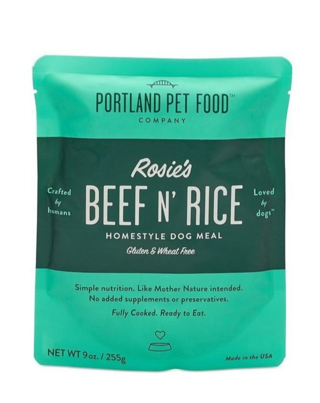 Rosie's Beef N' Rice Meal Pouch for Dogs (Made in the USA)