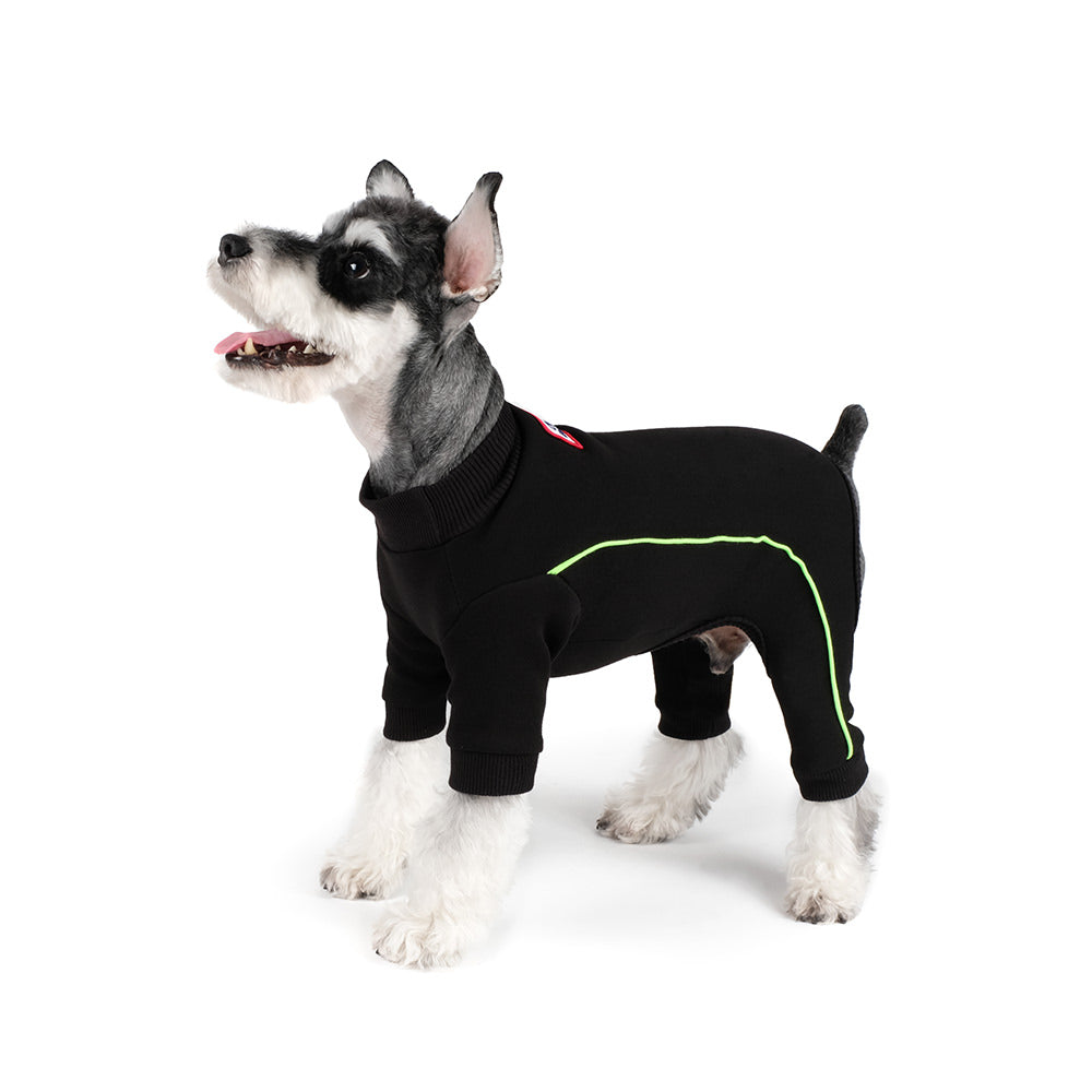 Bruce Warmer Dog Onesie in Black