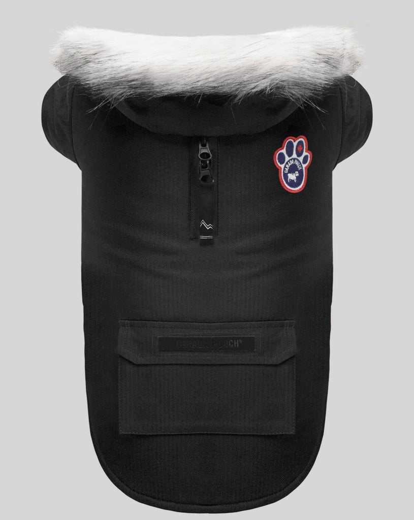 Winter Wilderness Dog Parka in Black