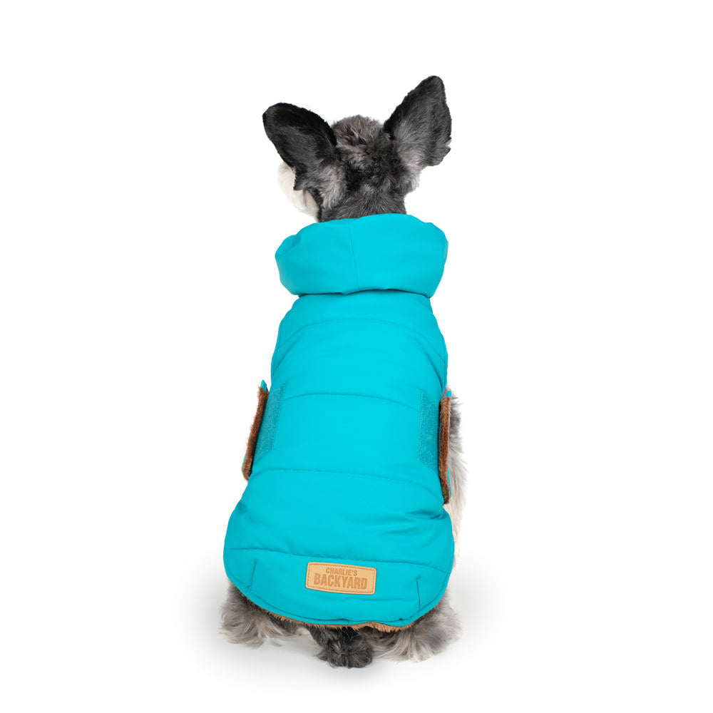 CHARLIE'S BACKYARD | Turtle Padding Jacket in Teal