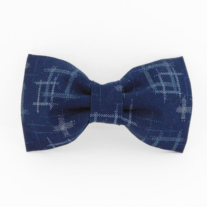 CHARLOTTE'S PET | Blue Ikat Denim Bow Tie