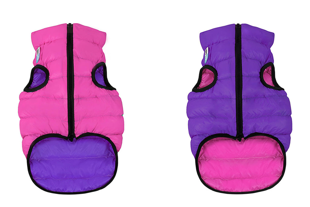 Reversible Puffer AiryVest in Pink and Purple