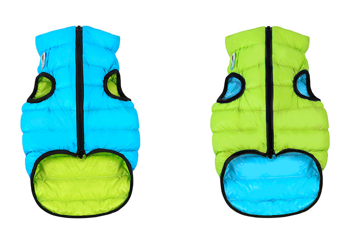 COLLAR BRAND | Reversible AiryVest in Light Green and Blue (with Harness Hole)