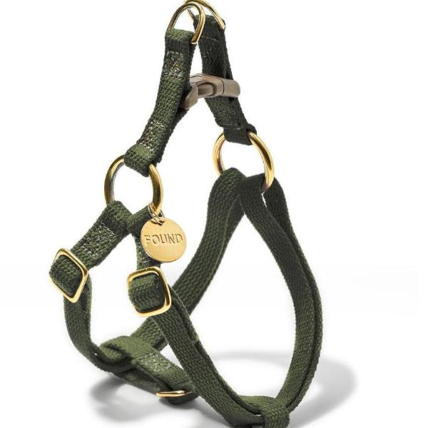 FOUND MY ANIMAL | Cotton Webbing Harness in Olive