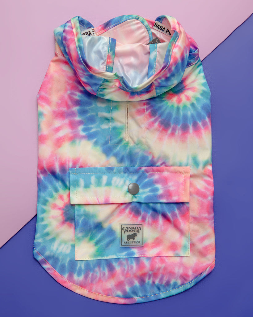 Pick Me Poncho in Tie Dye (Immediate Ship)