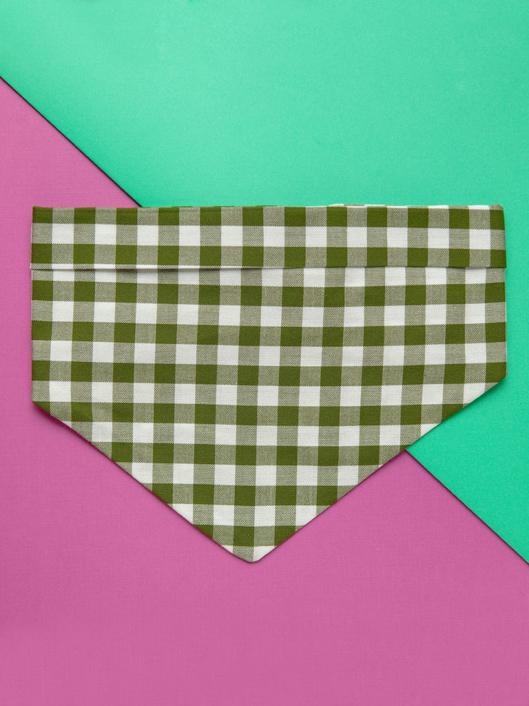 Adventure Neckwear Bandana in Forest Gingham (Immediate Ship)