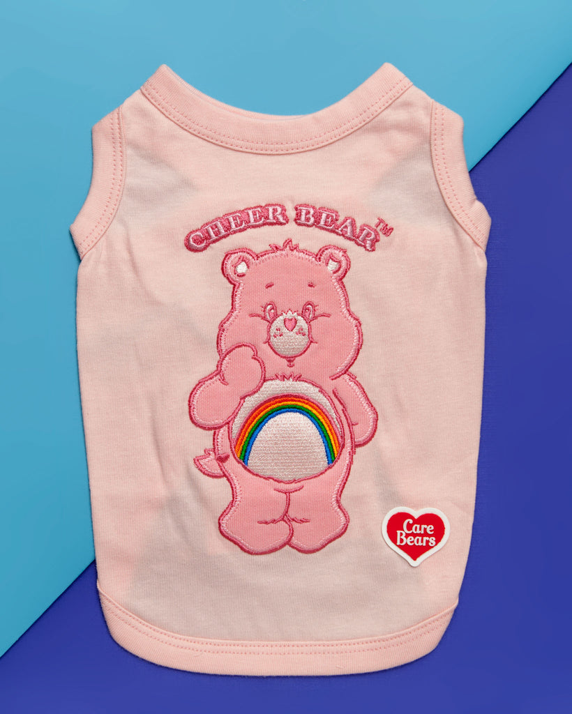 Care Bear Sleeveless Tank Top - Cheer Bear in Pink (IMMEDIATE SHIP)