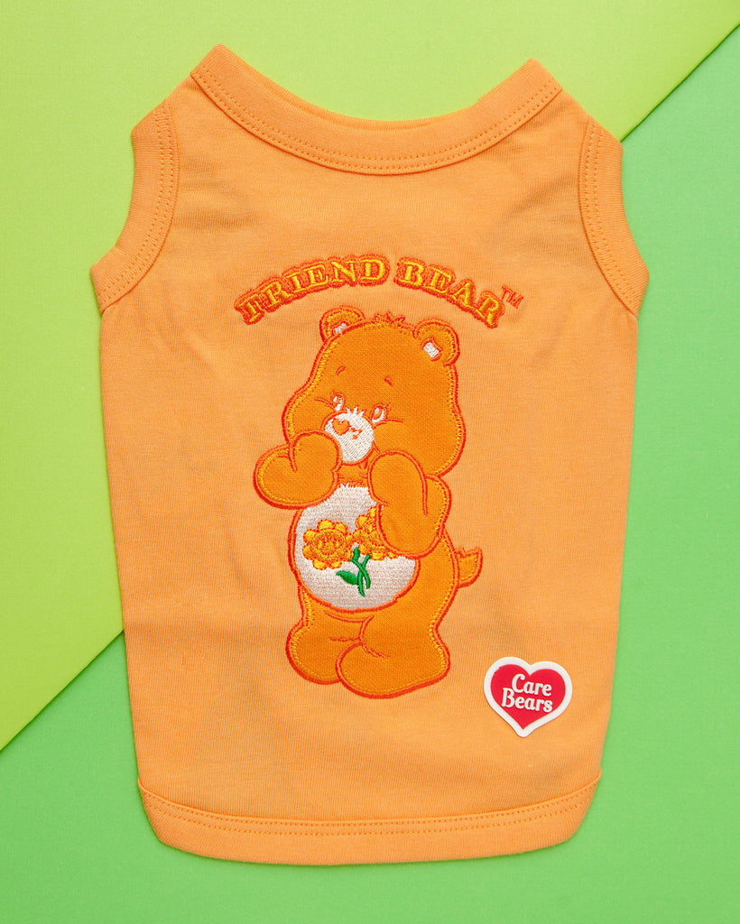 Care Bear Sleeveless Tank Top - Friend Bear in Peach