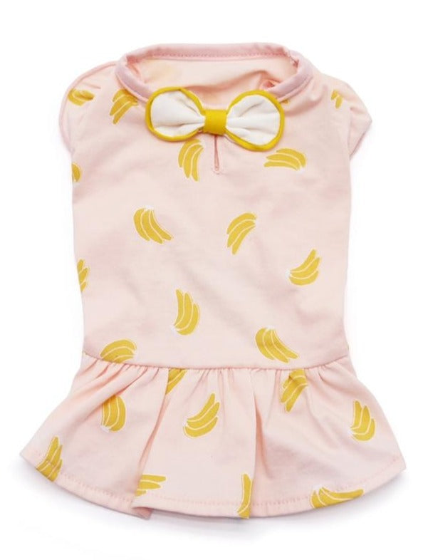 Bananas Lightweight Dog Dress (FINAL SALE)