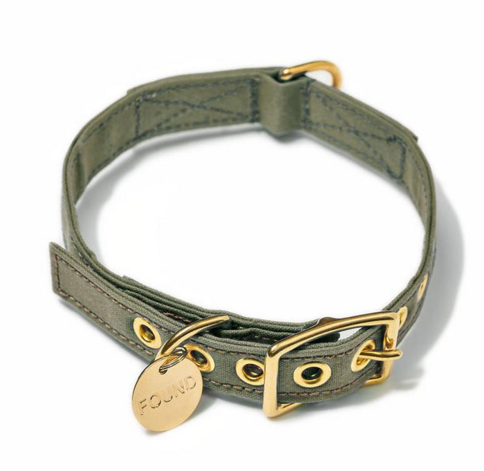 FOUND MY ANIMAL | Olive Cotton Canvas Collar