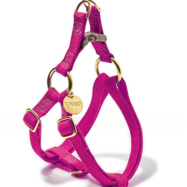 FOUND MY ANIMAL | Cotton Webbing Harness in Magenta