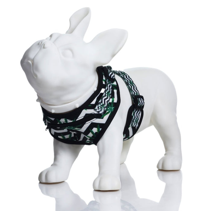 HEADY PET | Chevron & Leaf Print Harness