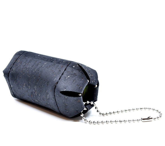 HOADIN | Cork Poop Bag Holder in Black
