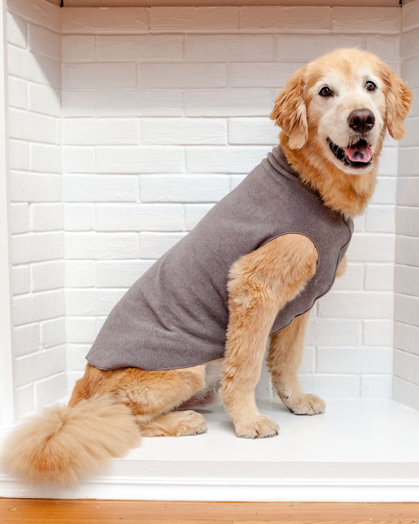 Pullover Stretch Dog Fleece in Charcoal Grey