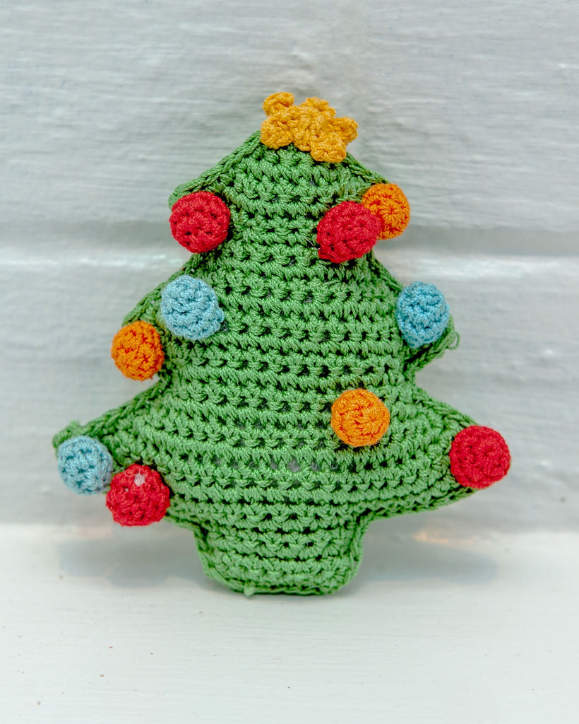 Christmas Tree Organic Knit Dog Toy