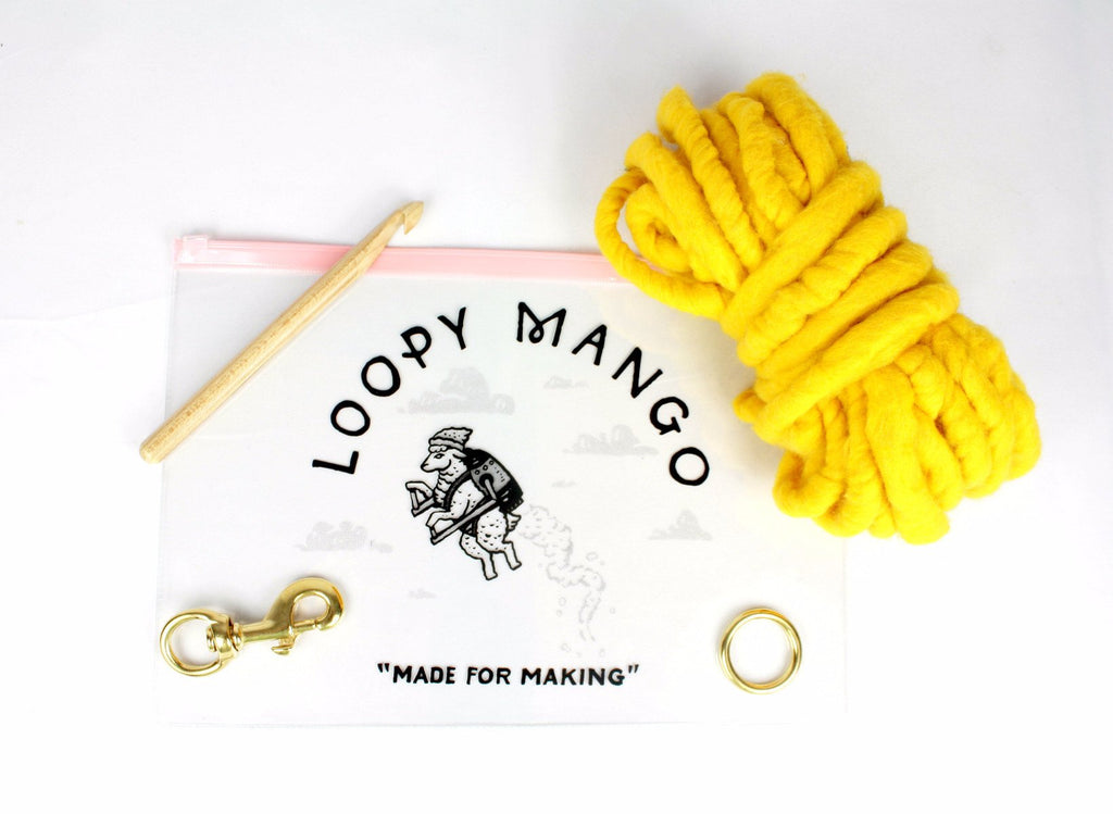 LOOPY MANGO | DIY Dog Leash Kit in Hot Pink