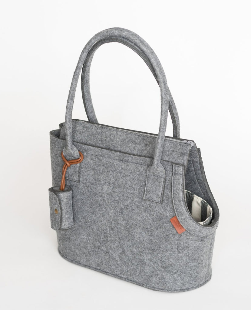 Modern Dog Carrier in Soft Ash Grey