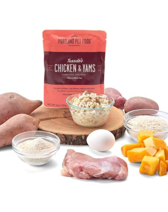 PORTLAND PET FOOD COMPANY | Tuxedo's Chicken & Yams Meal Pouch