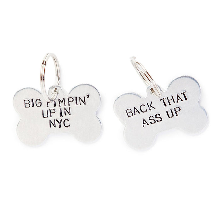 ROCKAWAY GYPSEA | Bone Aluminum Dog Tags (custom)