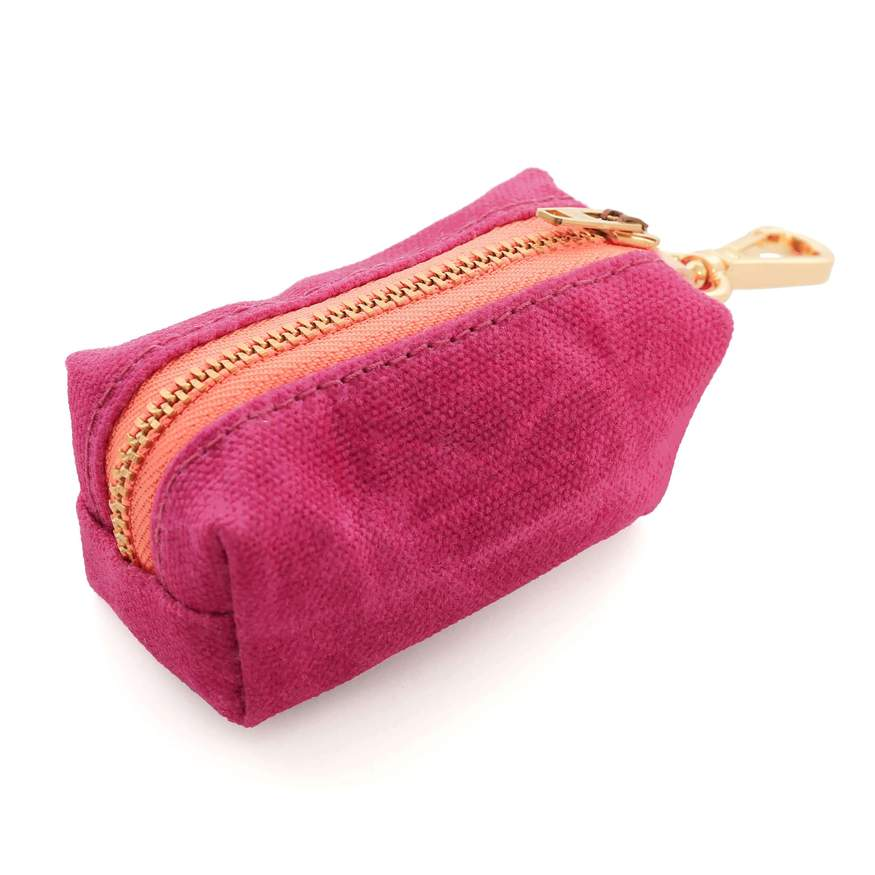 Hot Pink Waxed Canvas Waste Bag Dispenser