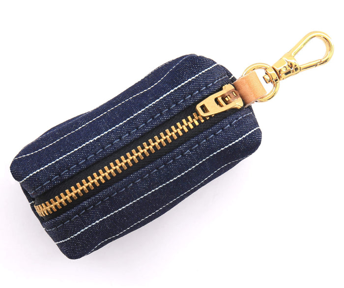 THE FOGGY DOG | Navy Pinstripe Leash Bag