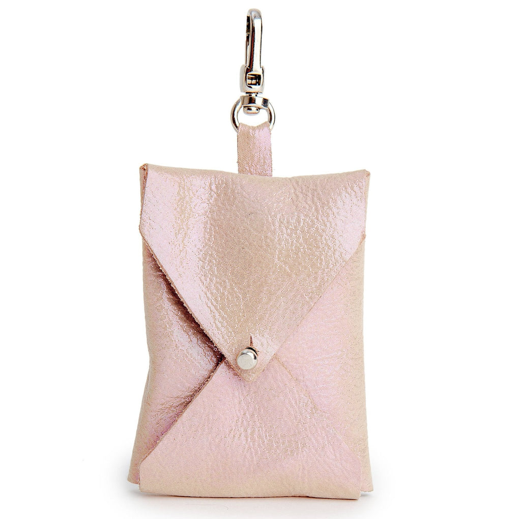 TRACEY TANNER | Luxe Leather Leash Bag in Soft Pink Shimmer