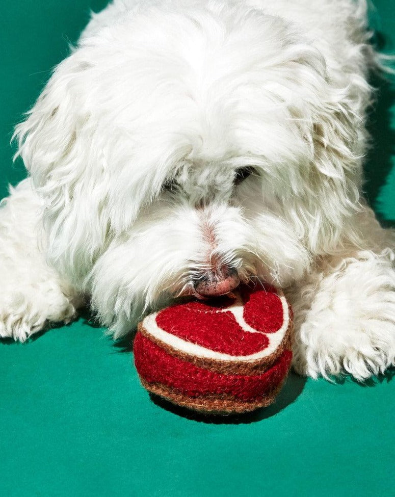 WARE of the DOG | Boiled Wool Steak Toy