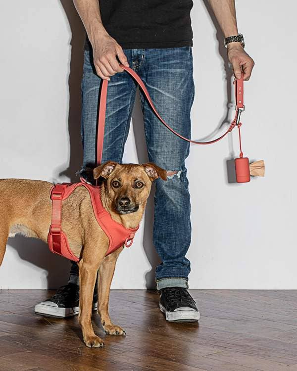 Poo Bag Carrier in Red