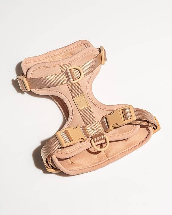 Cushioned Dog Harness in Tan