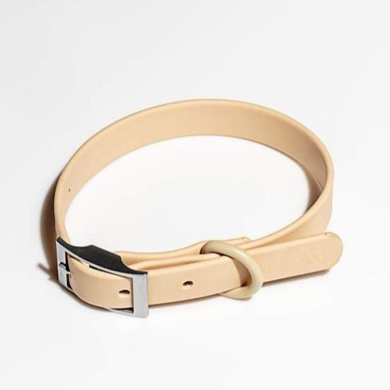 Modern Dog Collar in Tan
