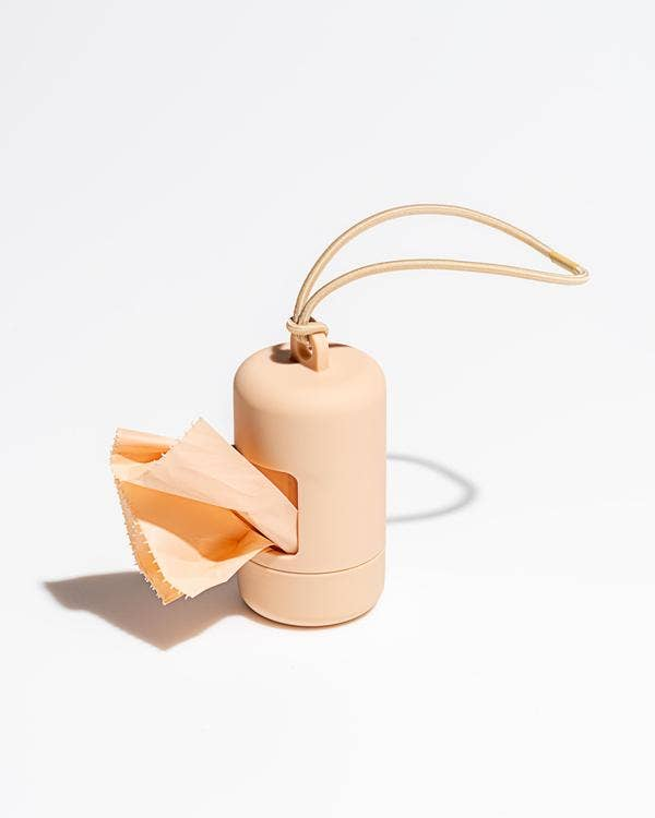 Poo Bag Carrier in Tan
