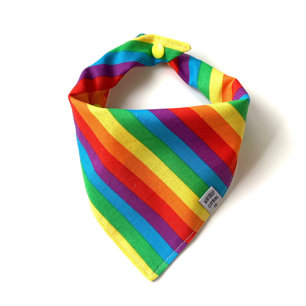 Snap-on Dog Bandana in Really Rainbow