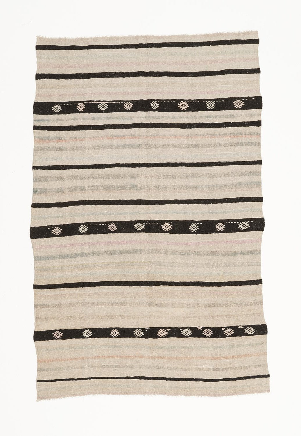 Traditional Vintage Hemp Rug - Inland Black Sea Region