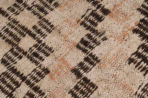 Vintage Hemp Warp and Weft Rug - Denizli Province