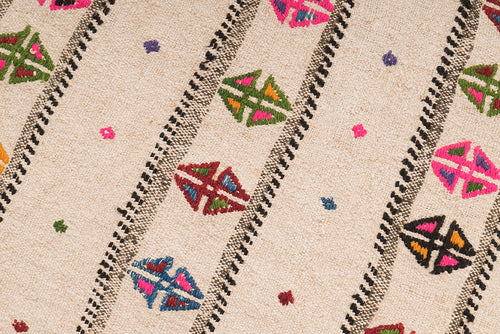 Small and Colorful Vintage Rug