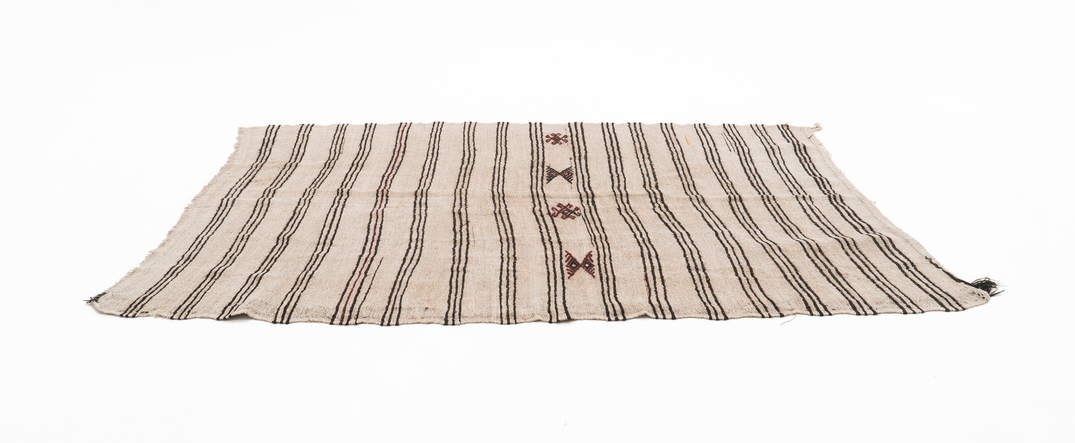 Rustic Vintage Hemp Rug - Black Sea Region