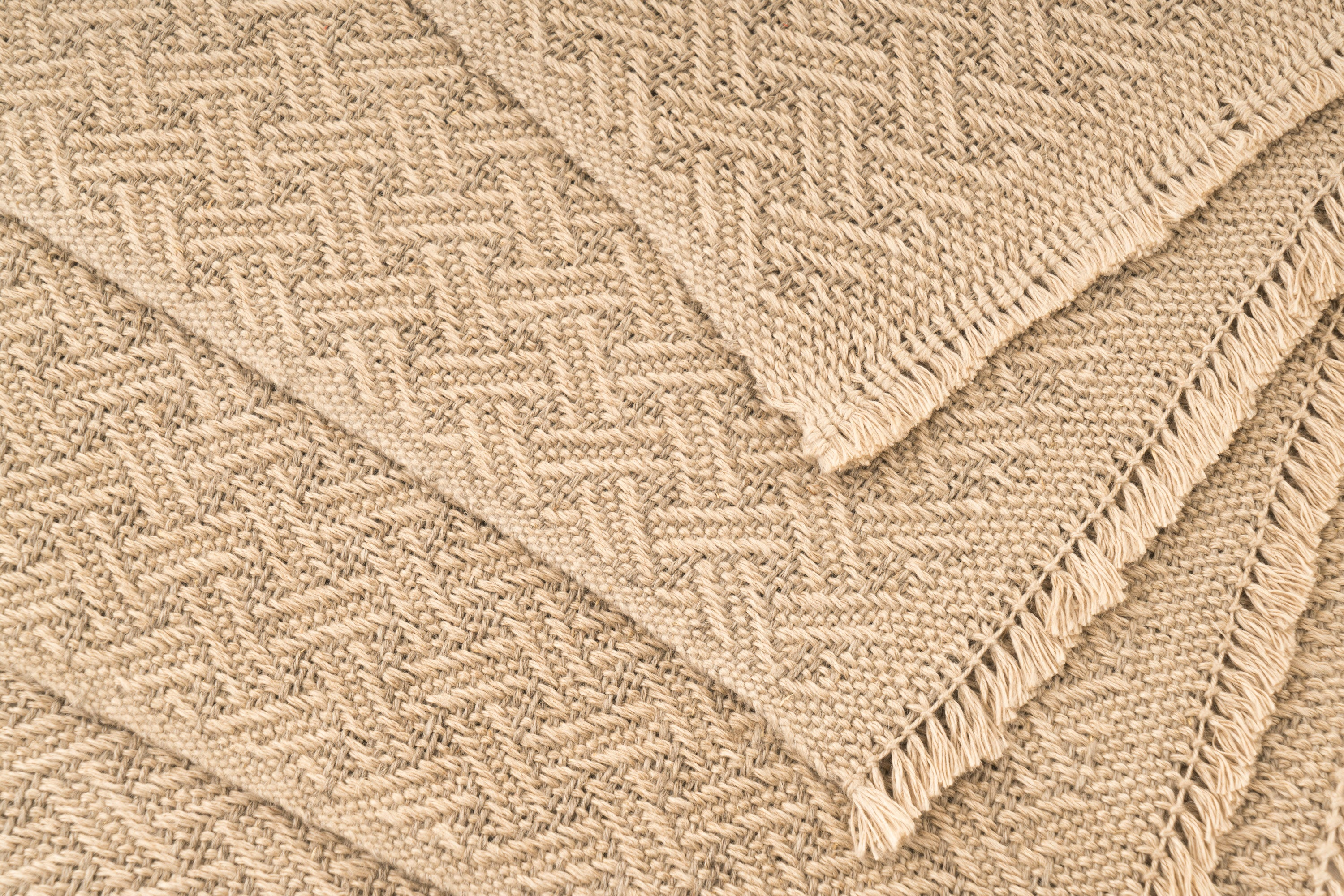 """Ripple"" Handwoven Hemp Placemat & Table Runner Set"