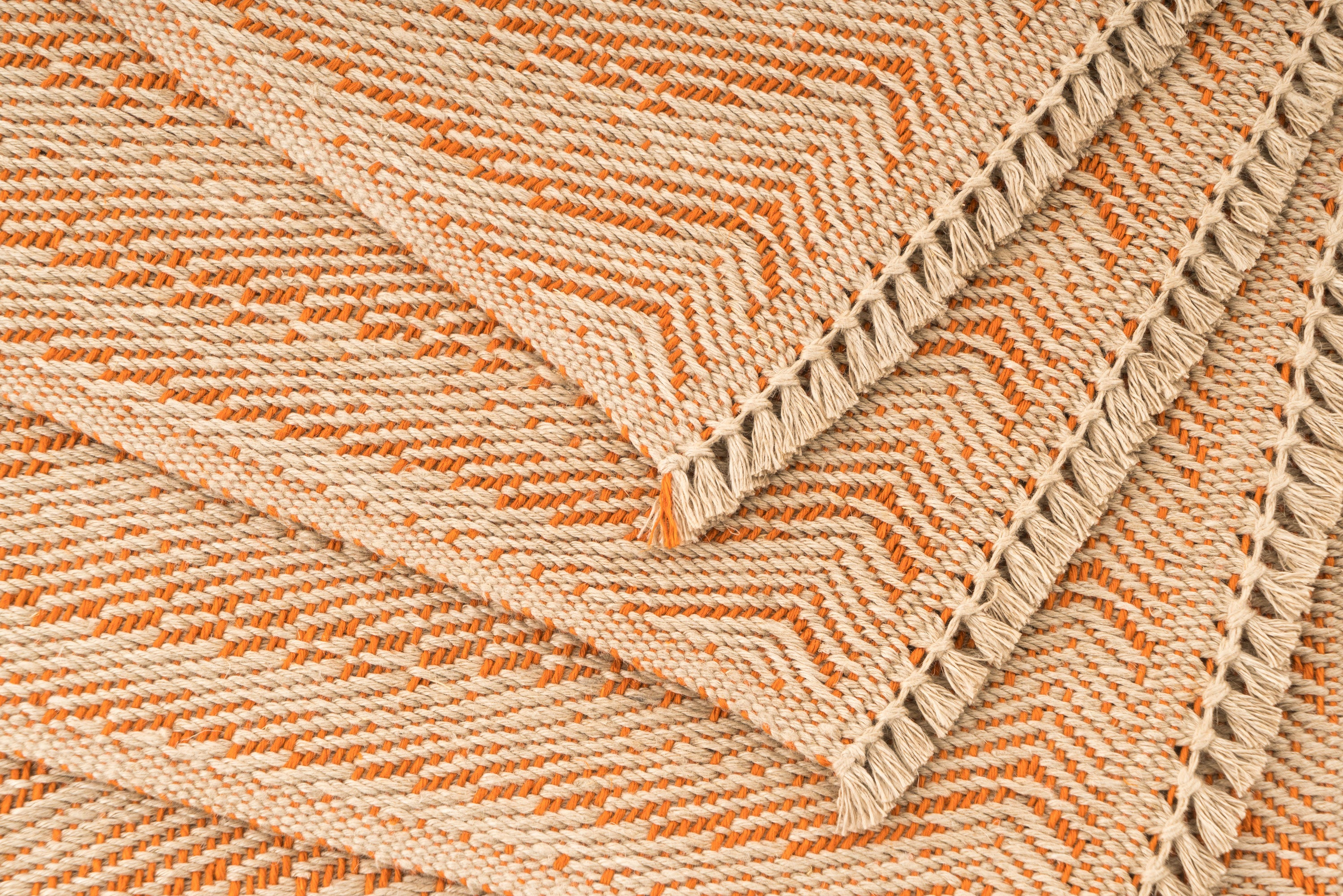 """Waves"" Handwoven Hemp Placemat & Table Runner Set"