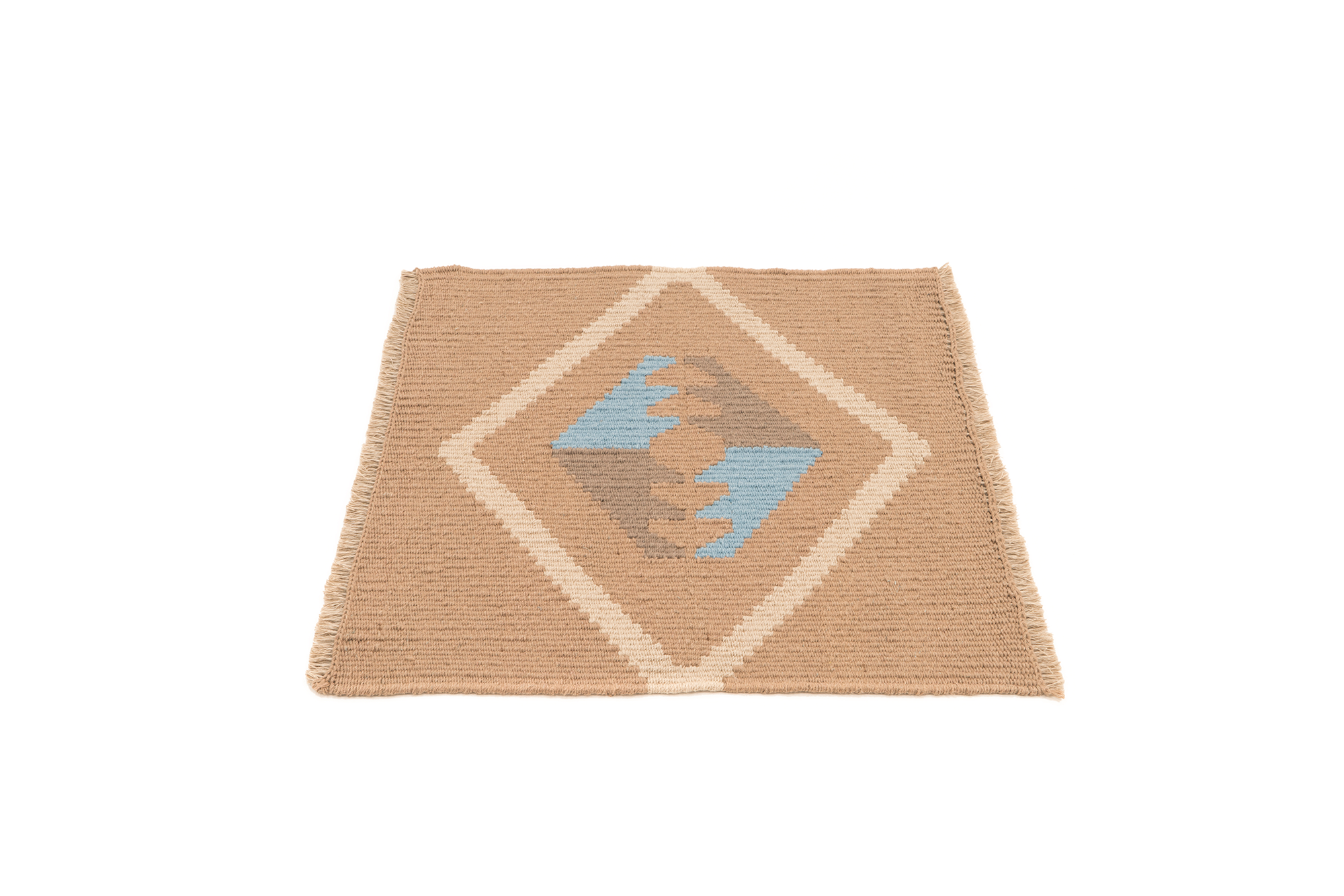 """Mother Earth"" Handwoven Hemp Designer Mini Rug I"
