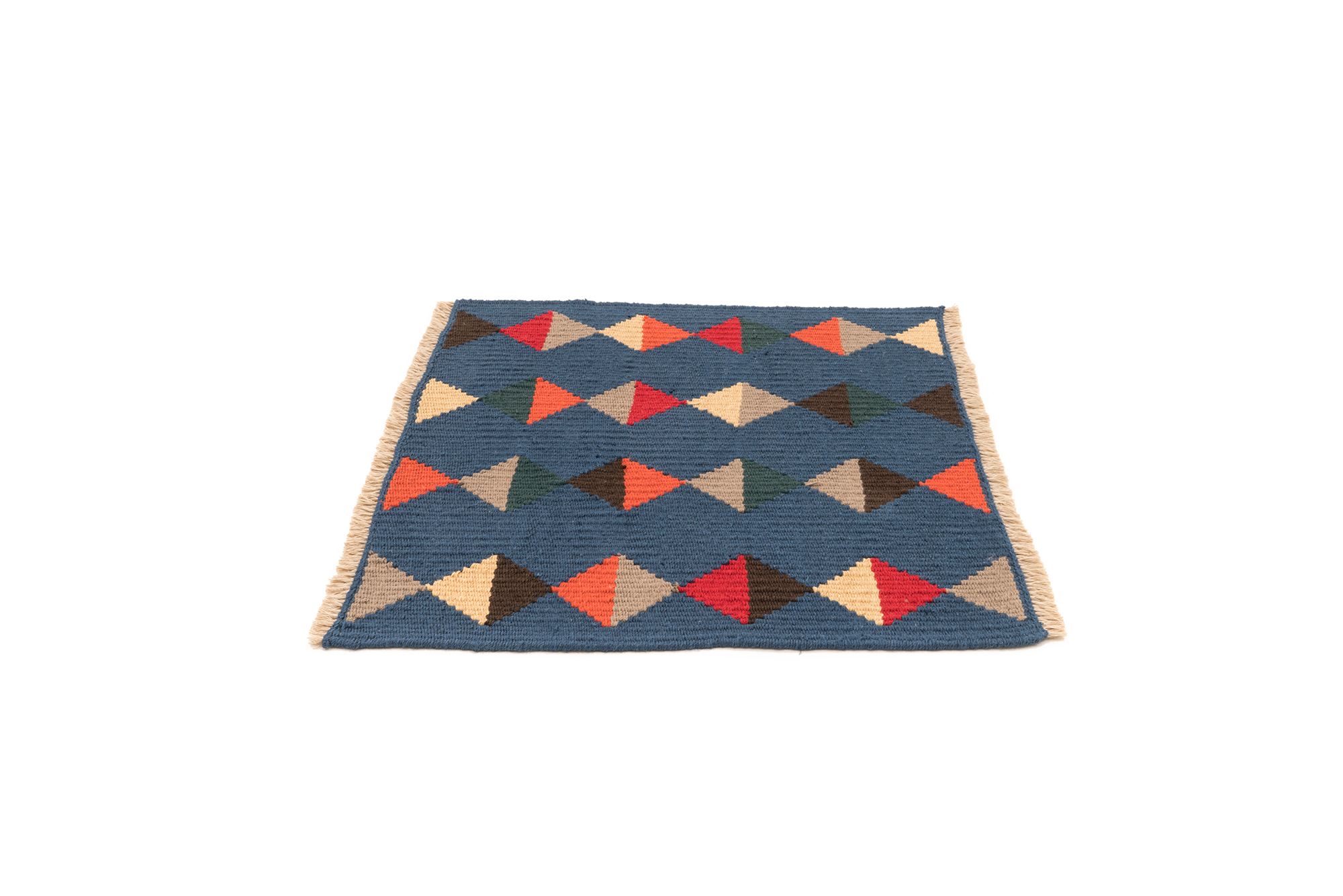 """Lovely Life"" Handwoven Hemp Designer Mini Rug III"